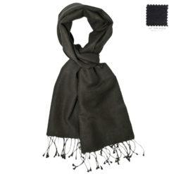 Pashmina Scarf – 30x150cm – 70% Cashmere/30% Silk – Dark Shadow