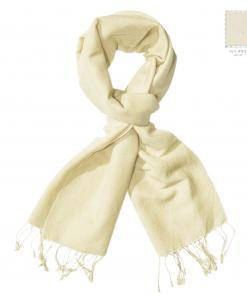 Pashmina Scarf – 30x150cm – 70% Cashmere/30% Silk – Winter White
