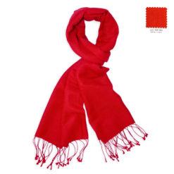 PASHMINA SCARF – 30X150CM – 70% CASHMERE/30% SILK – FIERY RED