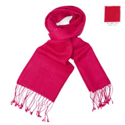 PASHMINA SCARF – 30X150CM – 70% CASHMERE/30% SILK – BRIGHT ROSE