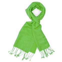 PASHMINA SCARF – 30X150CM – 70% CASHMERE/30% SILK – LIME GREEN