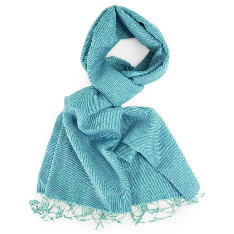 Two Tone Blue Finest Water Pashmina Women Men Scarf Shawl Stole Soft Wrap Nepal