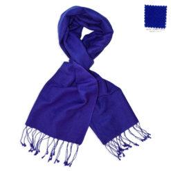 PASHMINA SCARF – 30X150CM – 70% CASHMERE/30% SILK – CLEMATIS BLUE