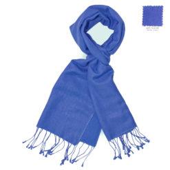 PASHMINA SCARF – 30X150CM – 70% CASHMERE/30% SILK – BLUE IRIS