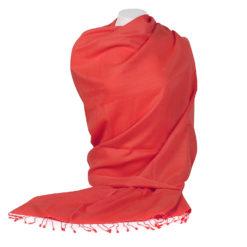 PASHMINA SHAWL – 90X200CM – 70% CASHMERE / 30% SILK – FIERY RED
