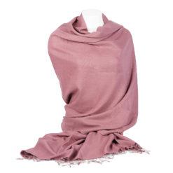PASHMINA SHAWL – 90X200CM – 70% CASHMERE / 30% SILK – WITHERED ROSE