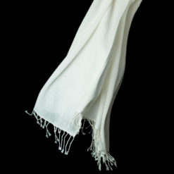 PASHMINA RING SHAWL – 90X200CM – 100% CASHMERE – NATURAL WHITE