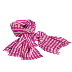 Pashmina with stripes 100% Cashmere