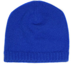 Ribbed Hem Hat - 100% Cashmere - Amparo Blue