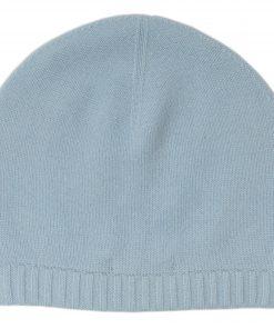 Ribbed Hem Hat - 100% Cashmere - Skyway