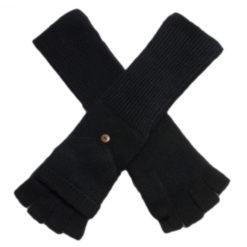 Ladies Cashmere On/Off Gloves - 100% Cashmere - Black mp09