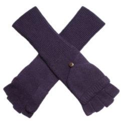 Ladies Cashmere On/Off Gloves - 100% Cashmere - Nightshade mp54