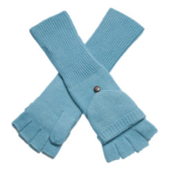 Ladies Cashmere On/Off Gloves - 100% Cashmere - Milky Blue mp123