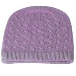 Cabled Hat - 100% Cashmere - Cosmic Sky