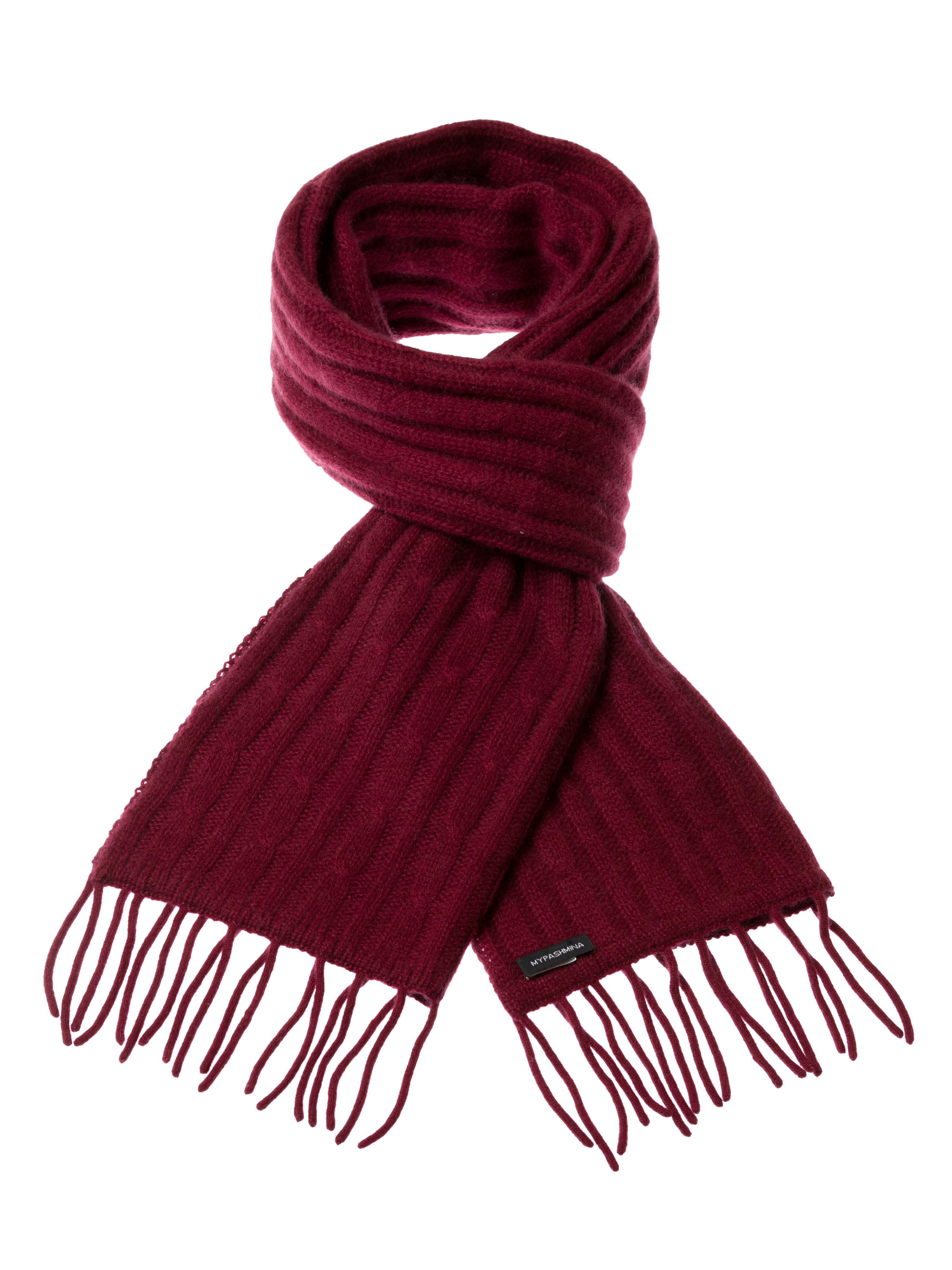 aa872bdc78d Cable Knit Scarf – 100% Cashmere – 35x180cm – Burgundy – Mypashmina