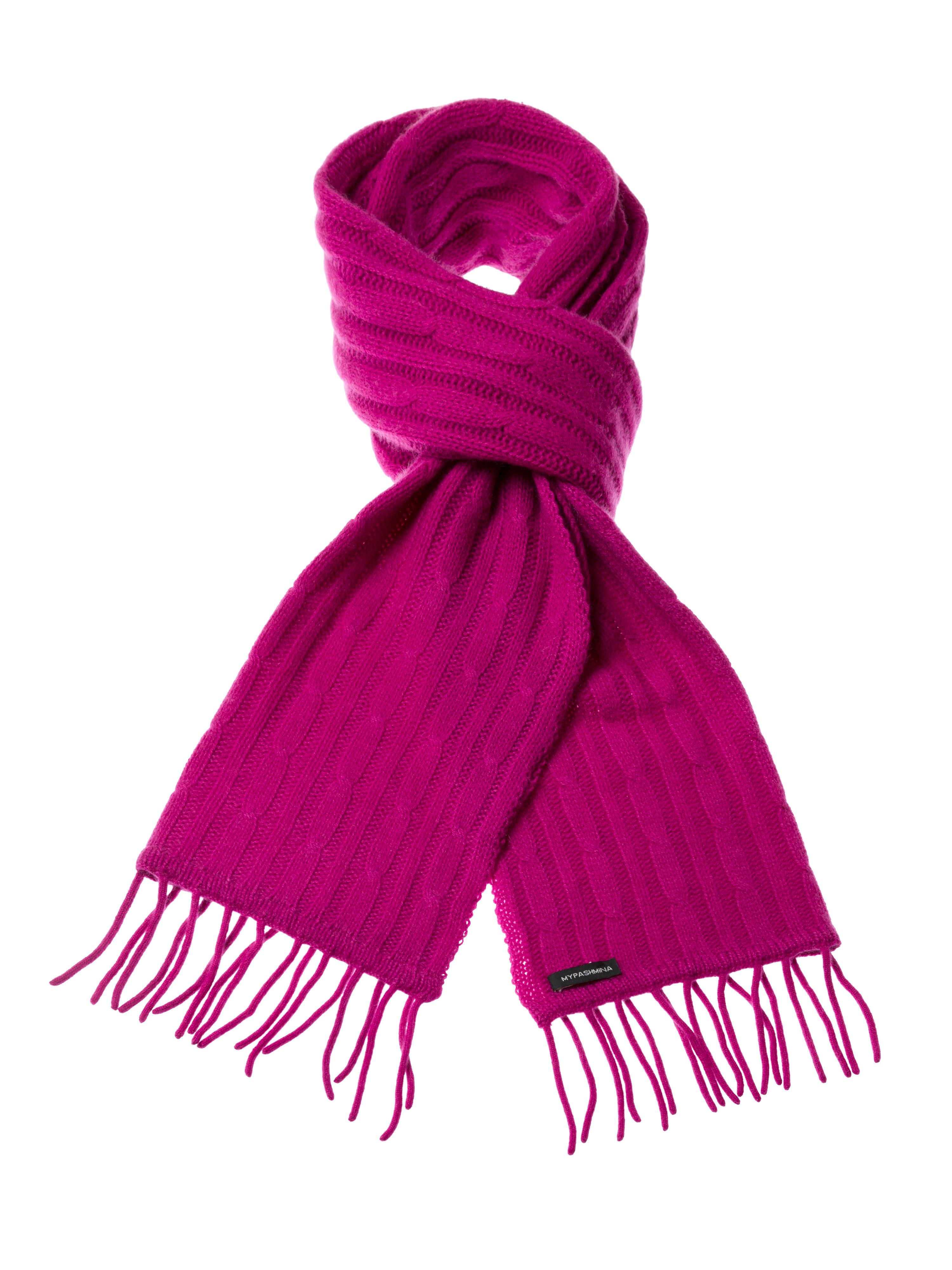 d19e91de6f1 Cable Knit Scarf – 100% Cashmere – 35x180cm – Deep Orchid – Mypashmina