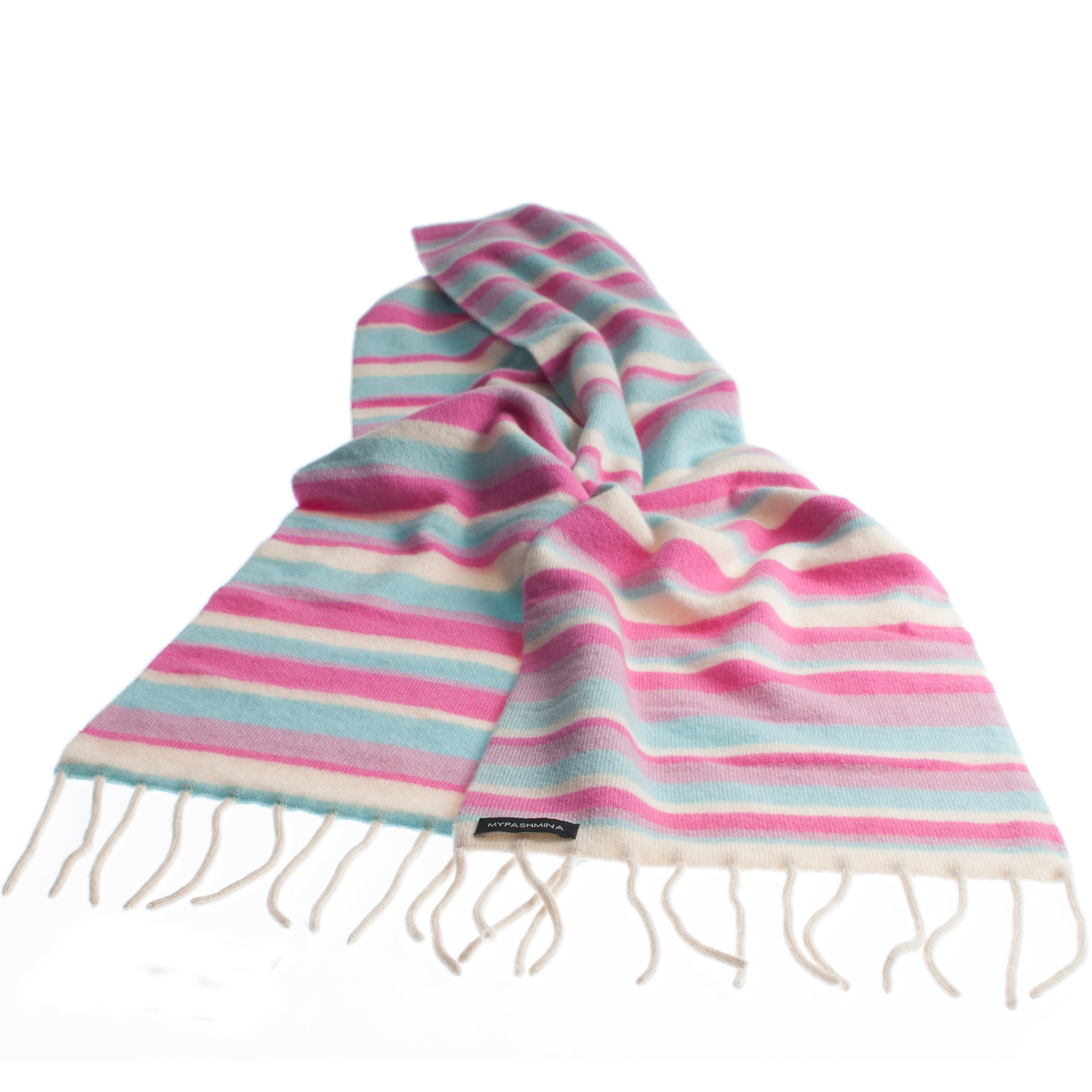 22b28d53a1e Knitted Stripey Scarf – 170x25cm – 100% Cashmere – Japan Lovers ...