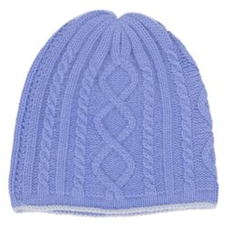 Cable Twist Hat - 100% Cashmere - Provence mp105 / Skyway mp101