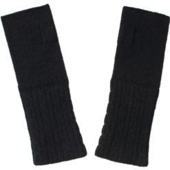 Cable Wristwarmer - 100% Cashmere - Black