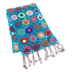 Crochet Knit Scarf - 100% Cashmere - 25x150cm - HKF229