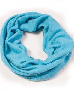 Cashmere Snood in Blue Mist