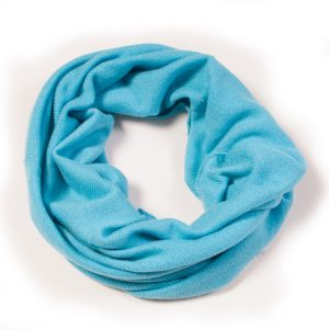 Cashmere Snood in Blue Mist