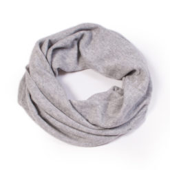 Cashmere Snood in Melange Grey