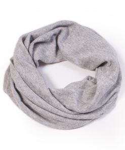 Cashmere Snood in Melange Grey
