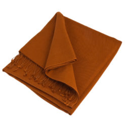 Pashmina Large Scarf - 45x200cm - 70% Cashmere/30% Silk - Ginger Bread