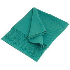 Pashmina Large Scarf - 45x200cm - 70% Cashmere/30% Silk - Blue Mist
