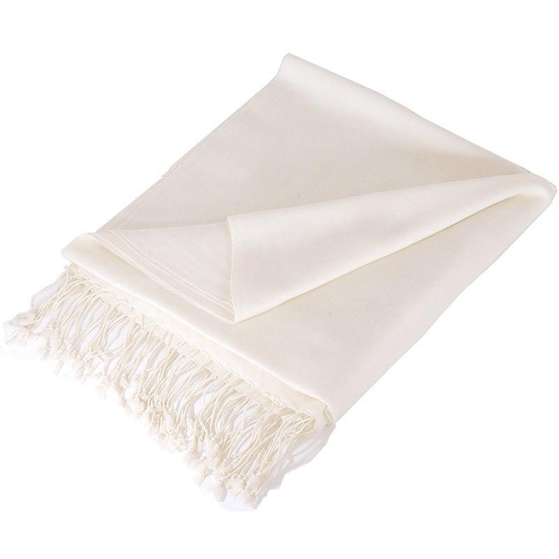 c50bd52fa Pashmina Shawl – 90x200cm – 100% Cashmere – Natural White – Mypashmina