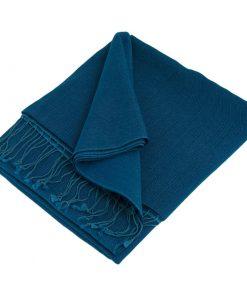 Pashmina Shawl - 90x200cm - 70% Cashmere / 30% Silk - Imperial Blue
