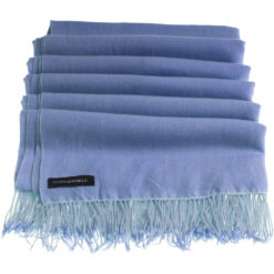 Pashmina Stole With Beaded Tassels - 70x200cm - Provence