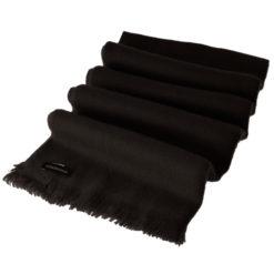 Open Fringe Pashmina Scarf - 45x200cm - 100% Cashmere - Black