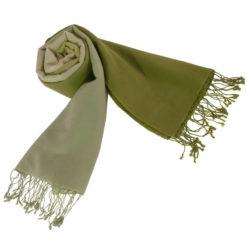 Shaded Pashmina - 70x200cm - 70%Cashmere / 30%Silk - Desert Sage and Mosstone