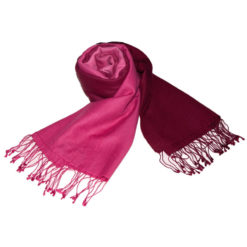 Shaded Pashmina - 70x200cm - 70%Cashmere / 30%Silk - Rhododendron and Carmine