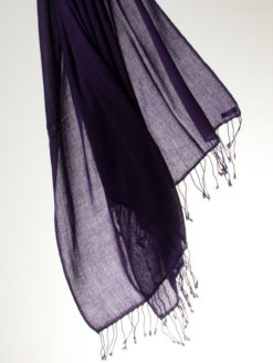 Pashmina Ring Shawl - 90x200cm - 100% Cashmere - Blackberry Cordial