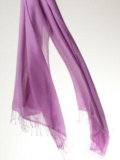 Pashmina Ring Shawl - 90x200cm - 100% Cashmere - Dusty Lavender