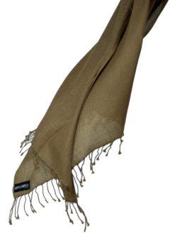 Pashmina Ring Shawl - 90x200cm - 100% Cashmere - Brownie