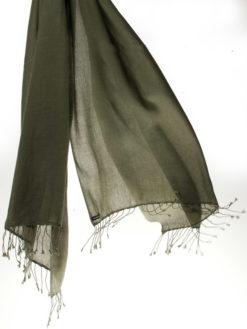 Pashmina Ring Shawl - 90x200cm - 100% Cashmere - Grape Leaf