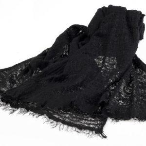 Angelweave Pashmina - 90% Cashmere / 10% Silk - 55x200cm - Black