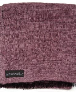 Angelweave Pashmina - 90% Cashmere / 10% Silk - 55x200cm - Withered Rose