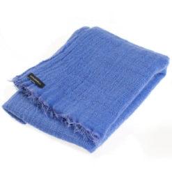 Angelweave Pashmina - 90% Cashmere / 10% Silk - 55x200cm - Blue Iris