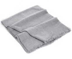 Winter Weight Wavy Shawl - Melange Light Grey