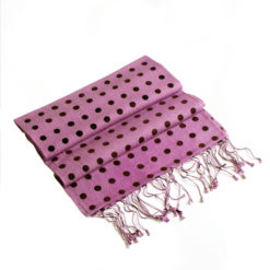 Small Spotted Scarf - 70% Cashmere / 30% Silk - 30x150cm - Dusky Lavender