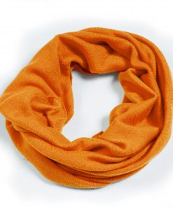 Cashmere Snood in Harvest Pumpkin