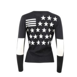 Cashmere Cardigan with Stars and Stripes