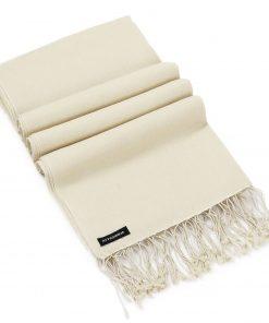 Pashmina Shawl - 90x200cm - 70% Cashmere / 30% Silk - White Sand