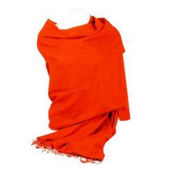 Pashmina Shawl - 90x200cm - 70% Cashmere / 30% Silk - Spicy Orange
