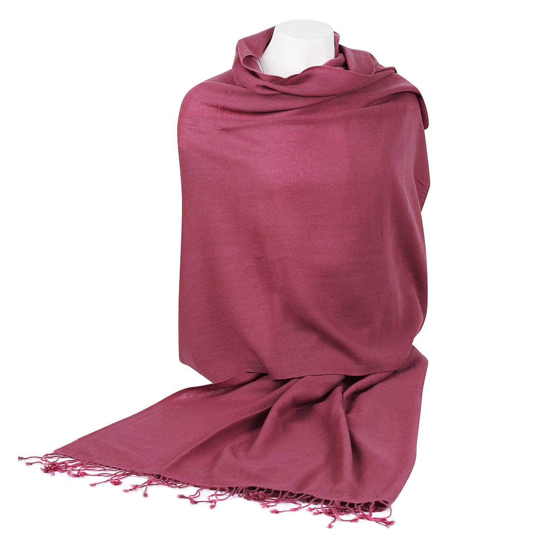 4bc2f3cb0 Pashmina Shawl – 90x200cm – 70% Cashmere / 30% Silk – Red Violet ...
